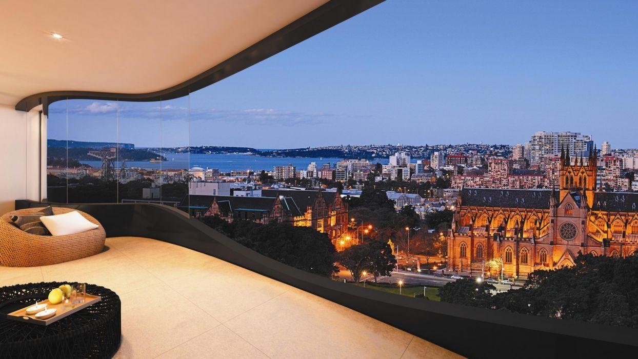 interior design style design city house living area balcony terrace buildings architecture window wallpaper
