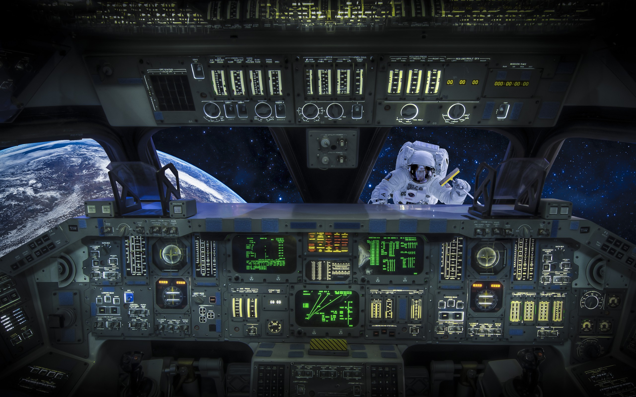Sci Fi Control Panel Wallpaper : Astronaut cosmonaut cab shuttle space situation vehicles
