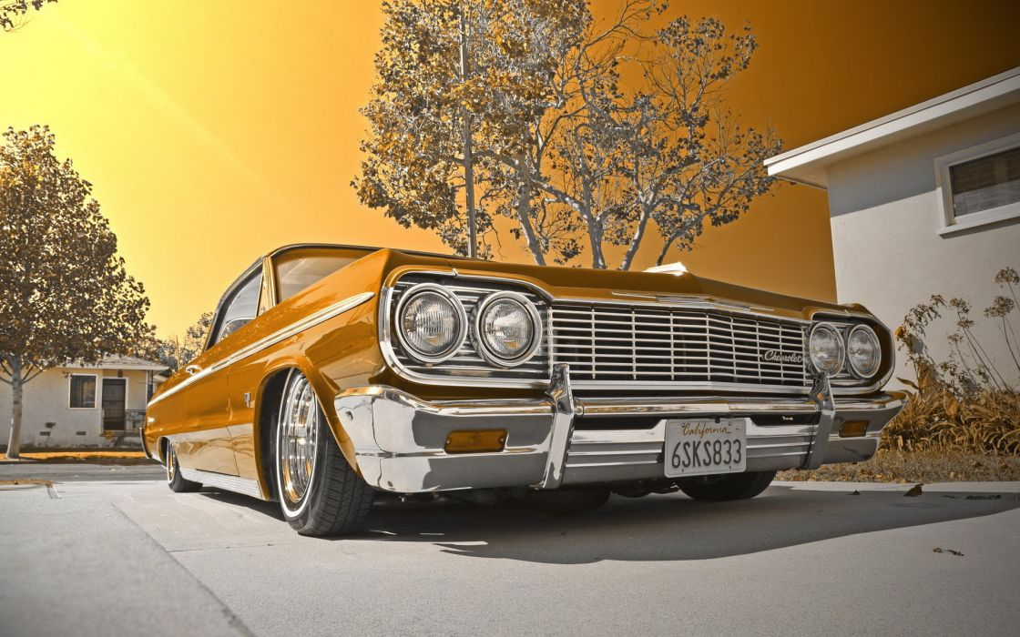 1964 Chevy impala lowrider muscle cars tuning wallpaper