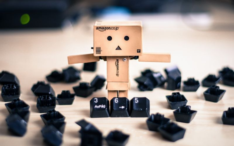 amazon box keyboard danbo humor computer macro wallpaper