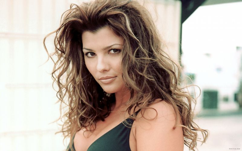 Ali Landry model actress brunettes women females girls sexy babes face eyes cleavage r wallpaper