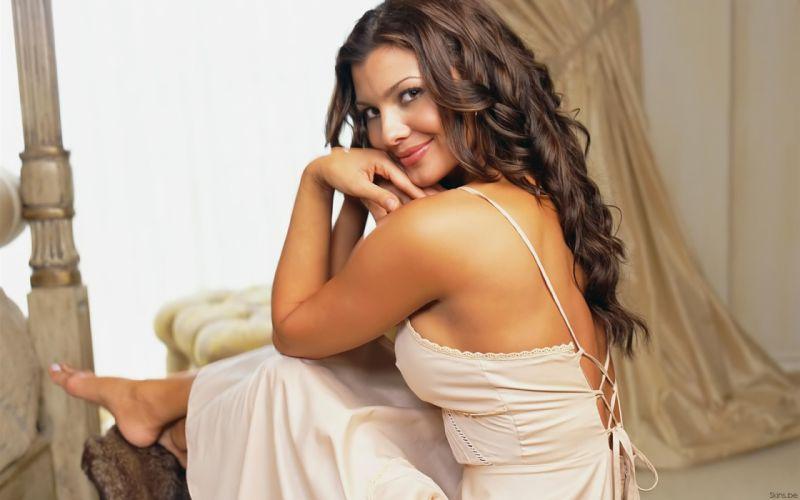 Ali Landry model actress brunettes women females girls sexy babes face wallpaper