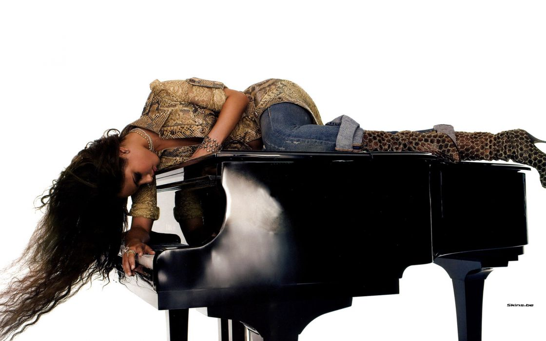 Alicia Keys singer musician women females girls sexy babes brunettes wallpaper