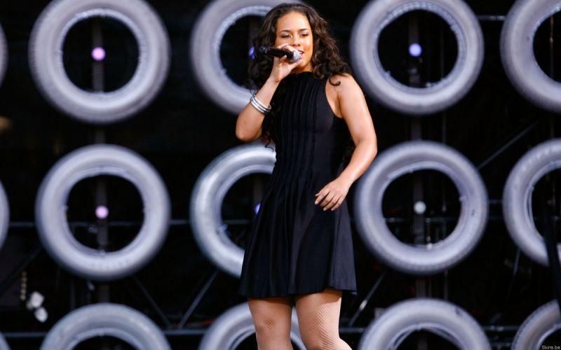 Alicia Keys singer musician women females girls sexy babes brunettes wallpaper