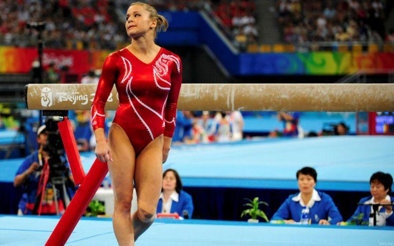 Alicia Sacramone gymnastic olympics sports women females girls sexy babes blondes wallpaper