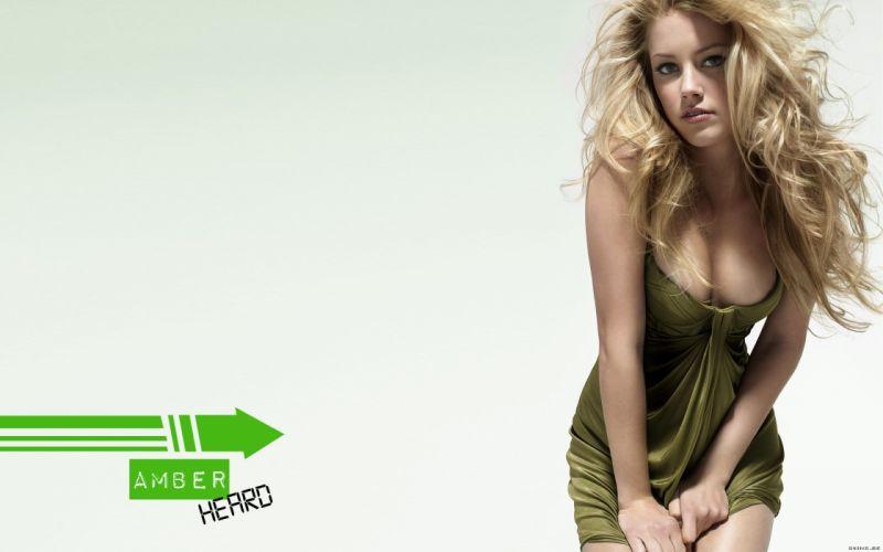 Amber Heard actress celebrity blondes women females girls babes sexy wallpaper