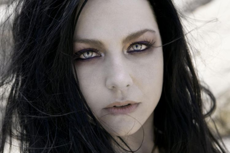 Amy Lee Evanescence singer musician hard rock women females brunettes girls sexy babes gothic wallpaper