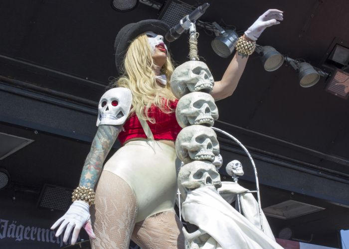 In This Moment Maria Brink women females girls sexy babes heavy metal hard rock band group blondes gothic concert skulls wallpaper
