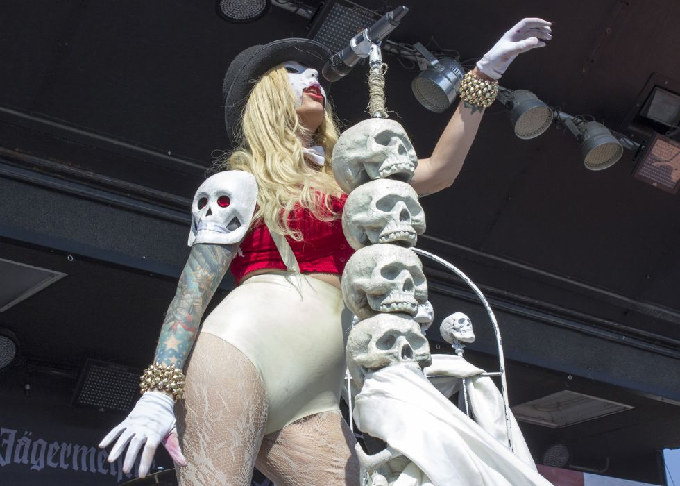 In This Moment Maria Brink women females girls sexy babes heavy metal hard rock  band group