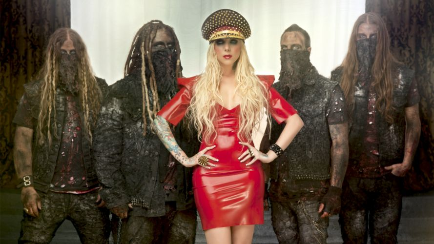 In This Moment Maria Brink women females girls sexy babes heavy metal hard rock band group blondes gothic wallpaper