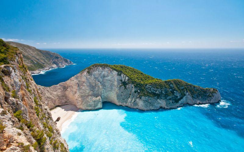 landscapes cliffs beaches ocean sea sky coast shore wallpaper