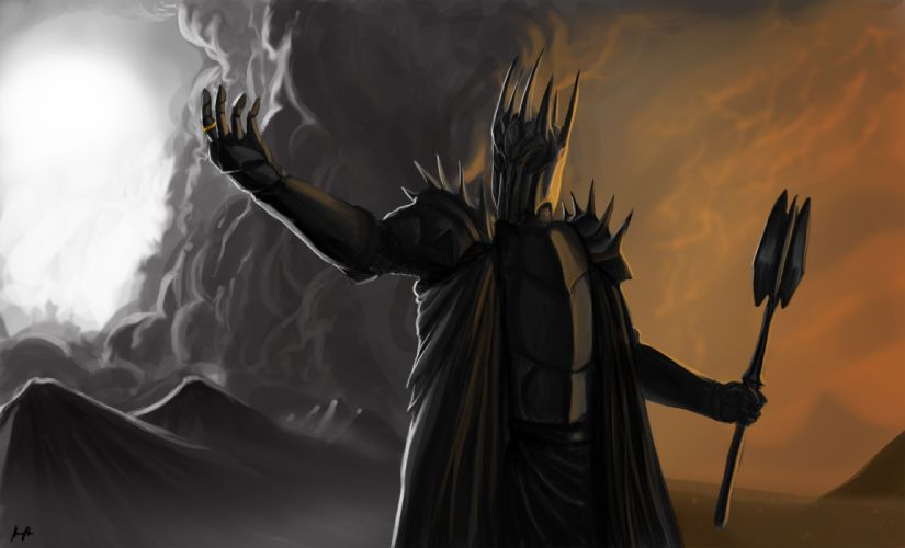 lord of the rings Sauron Dark Lord fantasy movies books warrior armor wallpaper