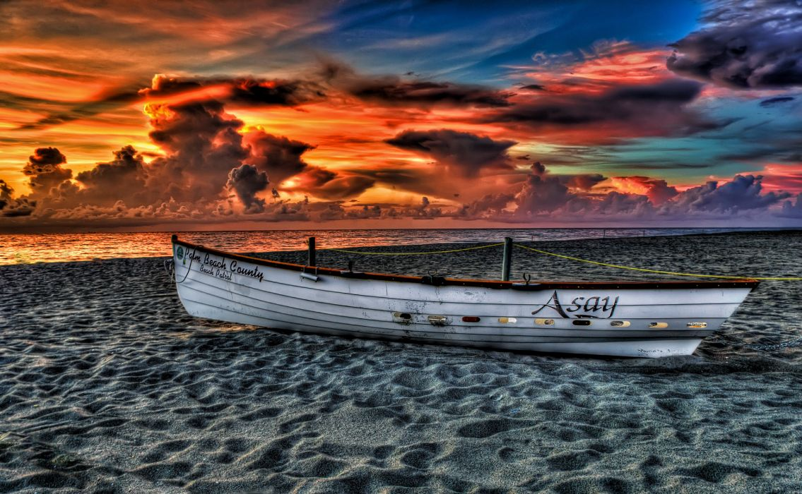 nature landscape sky clouds sunset sea beach ocean hdr sand sky clouds color wallpaper