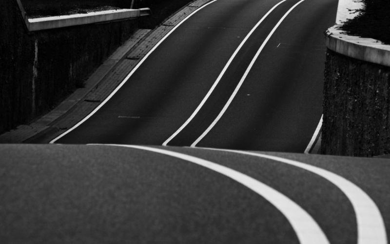 roads stripes hills wallpaper