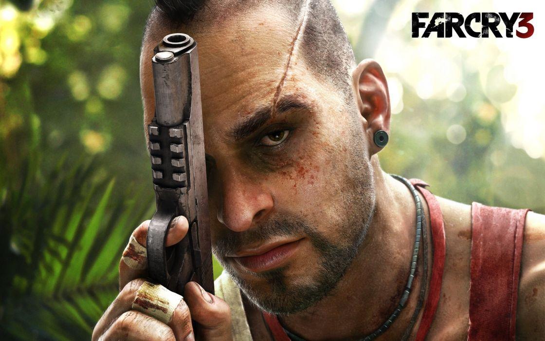 far cry 3 gun Vaasa Montenegro weapons men males face eyes pistol wallpaper