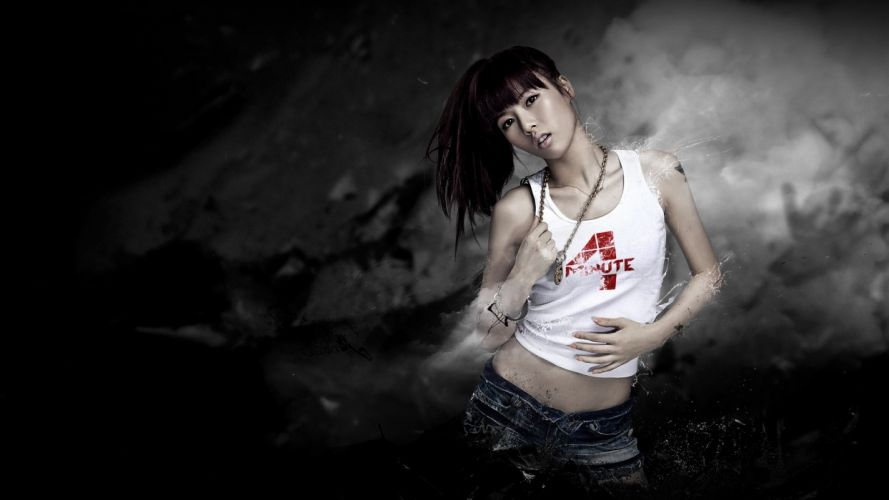 Hyuna girl k-Pop Korea 4 Minute Asian hena singer girls generation women females babes wallpaper