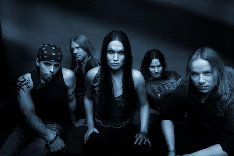 Nightwish Tarja Turunen band groups gothic heavy metal women females girls babes brunettes wallpaper