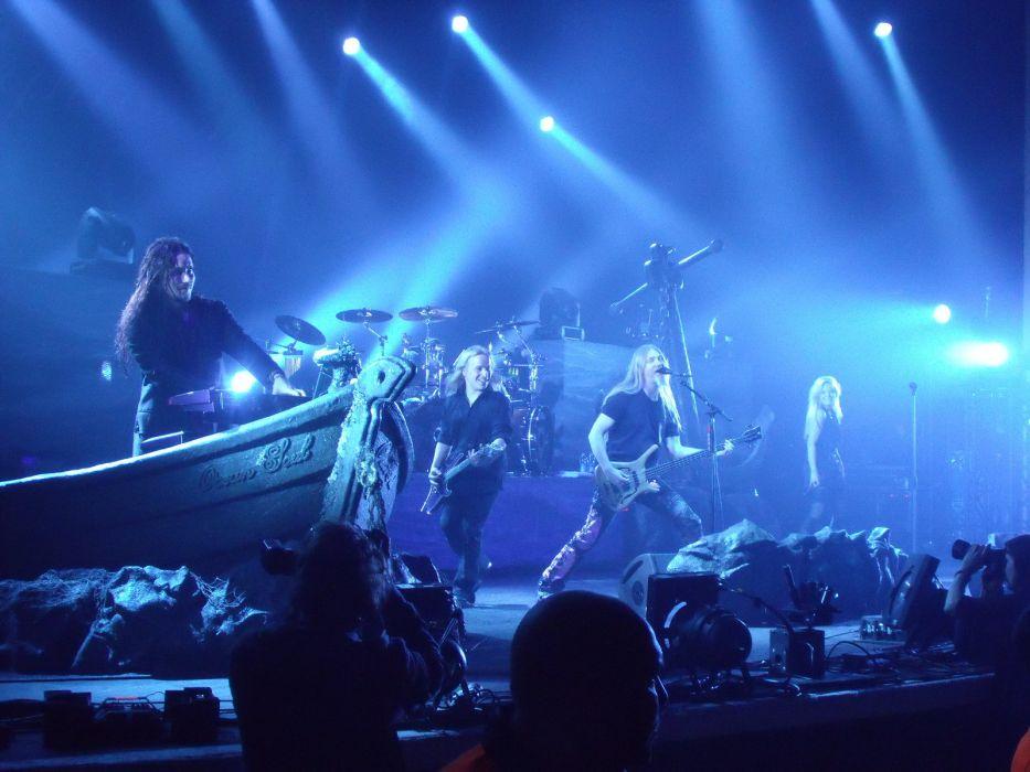 Nightwish Tarja Turunen band groups gothic heavy metal concerts guitar wallpaper