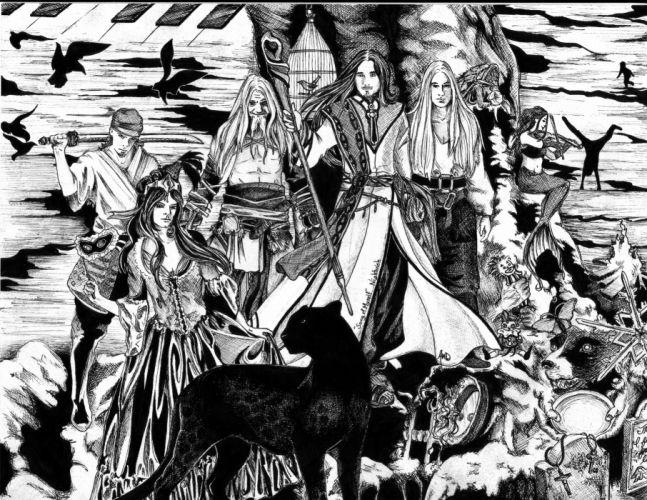 Nightwish Tarja Turunen band groups gothic heavy metal fantasy dark art wallpaper