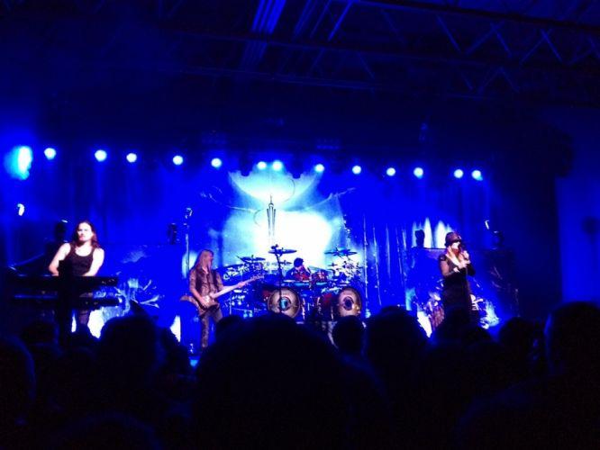 Nightwish Tarja Turunen band groups gothic heavy metal concert guitar wallpaper