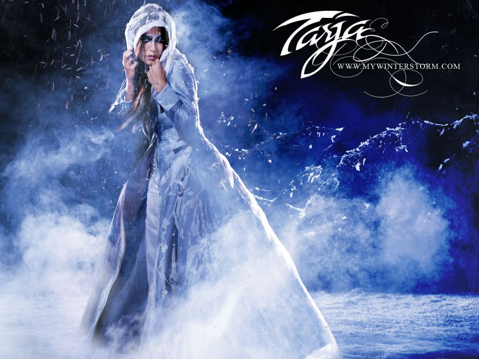 Nightwish Tarja Turunen band groups gothic heavy metal women females girls babes brunettes fantasy wallpaper