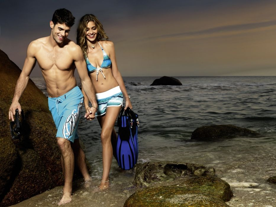 Ana Beatriz Barros model women females girls babes sexy bikini swimwear ocean      e wallpaper