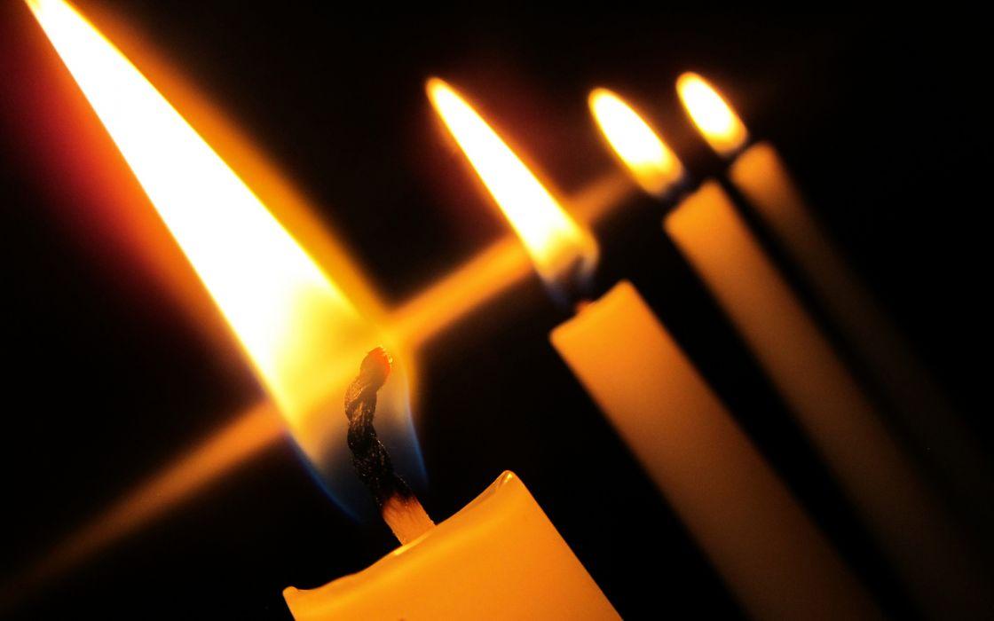 Candles Macro Flame dark light fire wallpaper