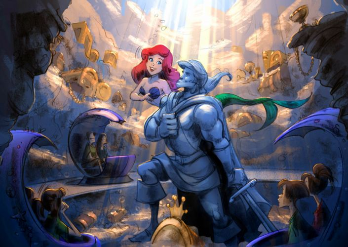Disney The Little Mermaid Cartoons t wallpaper