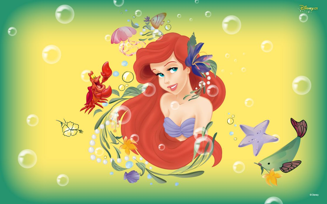 Disney The Little Mermaid Cartoons wallpaper