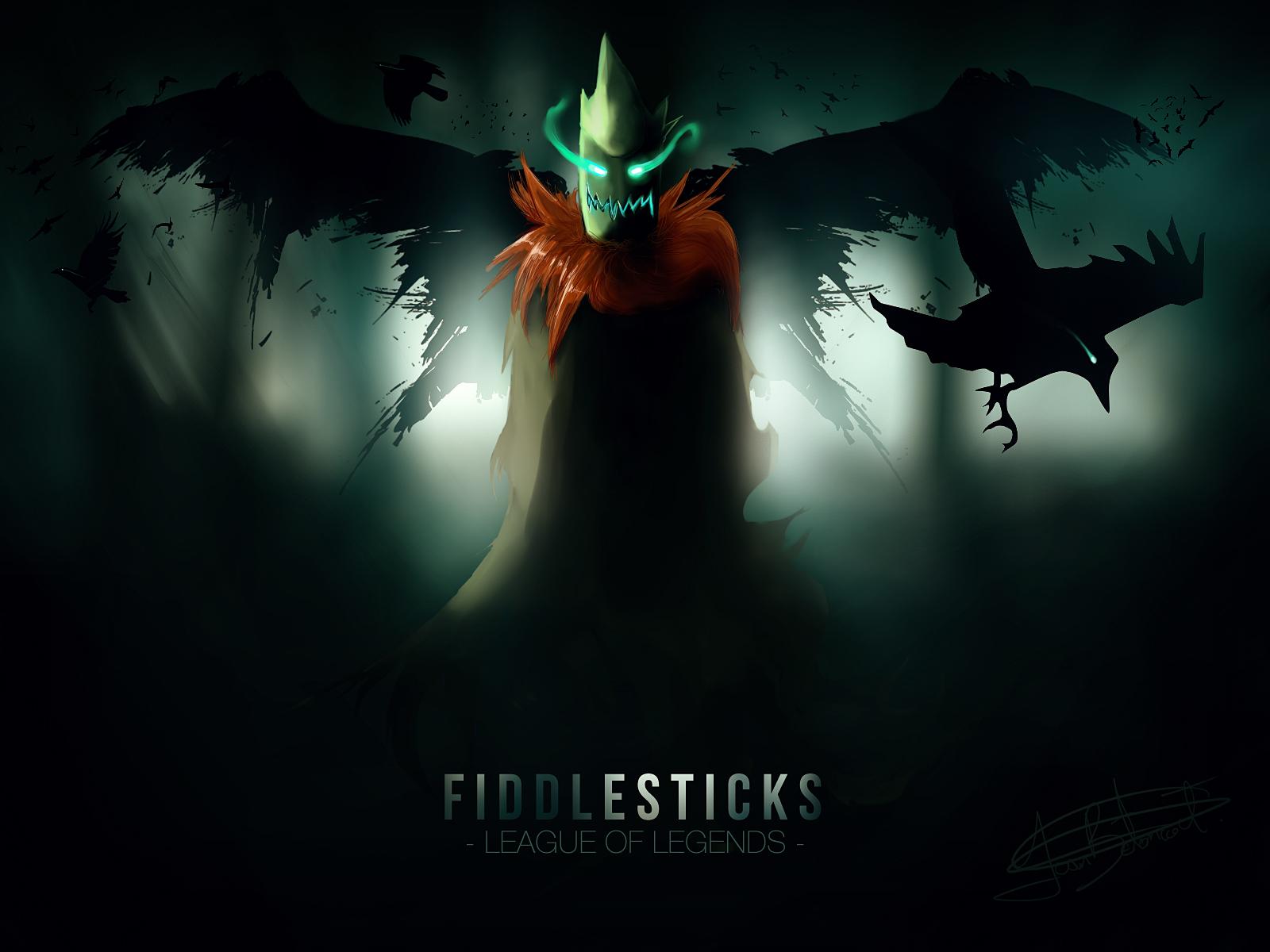 Fiddlesticks League of Legends dark wallpaper | 1600x1200 ...