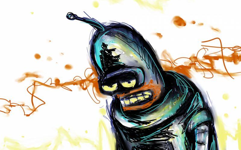 Futurama Painting Art Robot Cartoons bender wallpaper