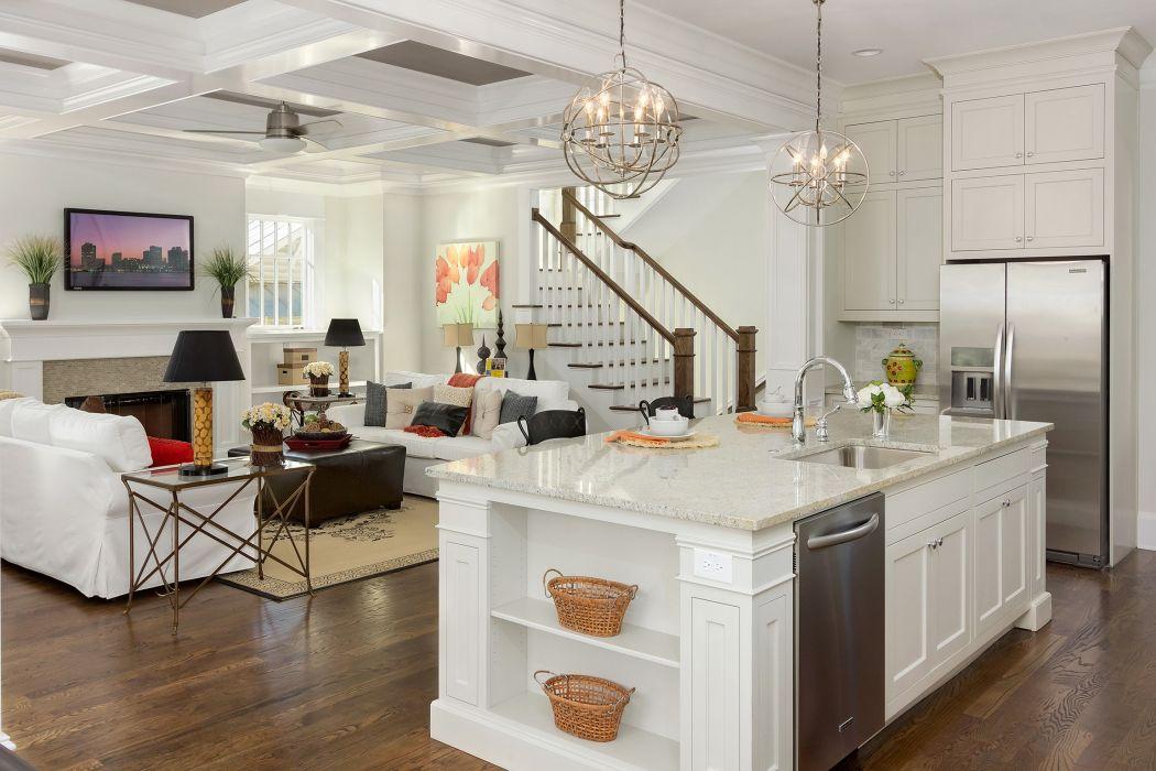 Interior Table Kitchen Living room Chandelier White Design wallpaper