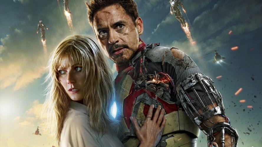 Iron Man Robert Downey Jr Gwyneth Paltrow superhero comics movies wallpaper