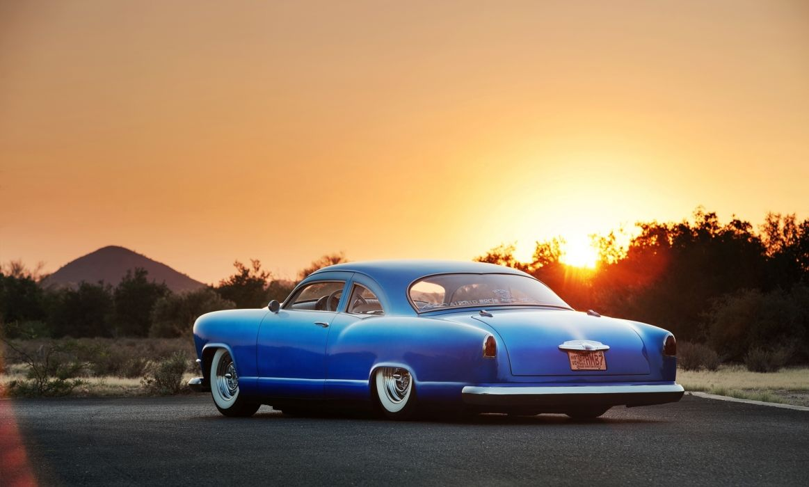 Kaiser sunset roads lowrider retro classic wallpaper
