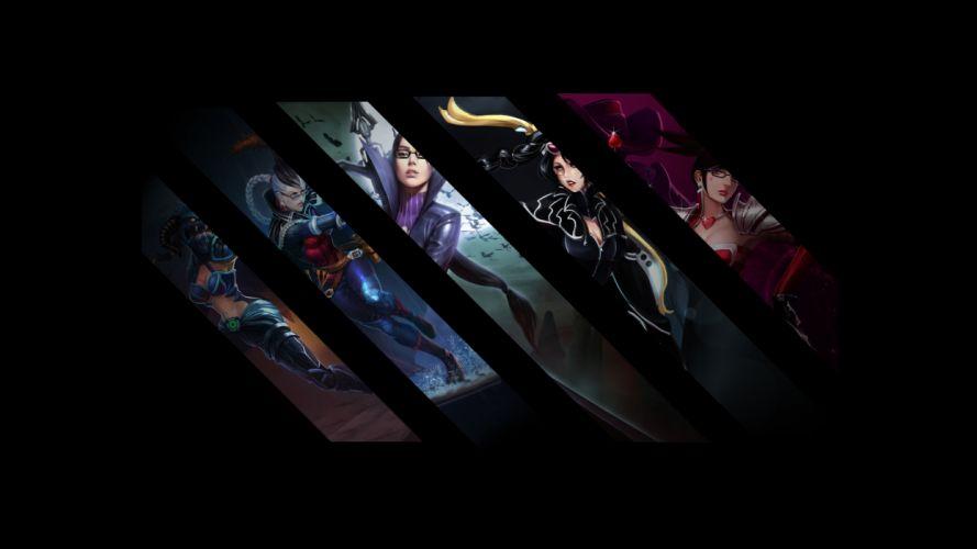League of Legends panels collage wallpaper