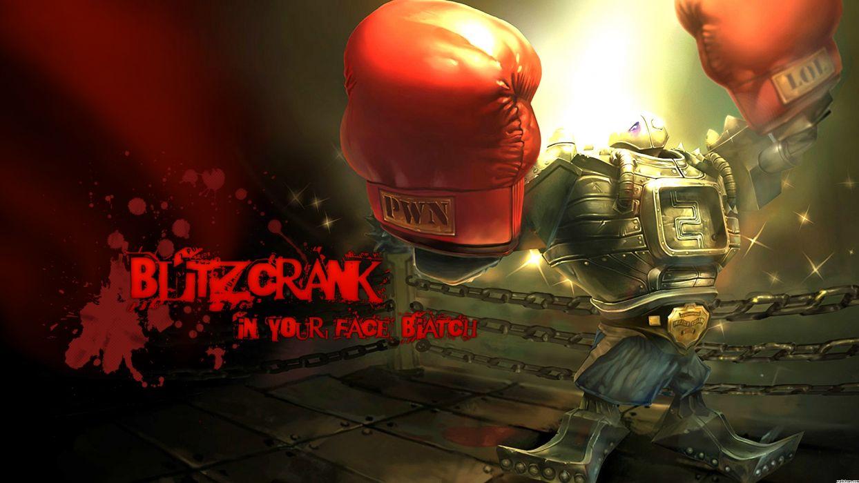 League of Legends Blitzcrank Boxing Gloves Boxing Robot sports wallpaper