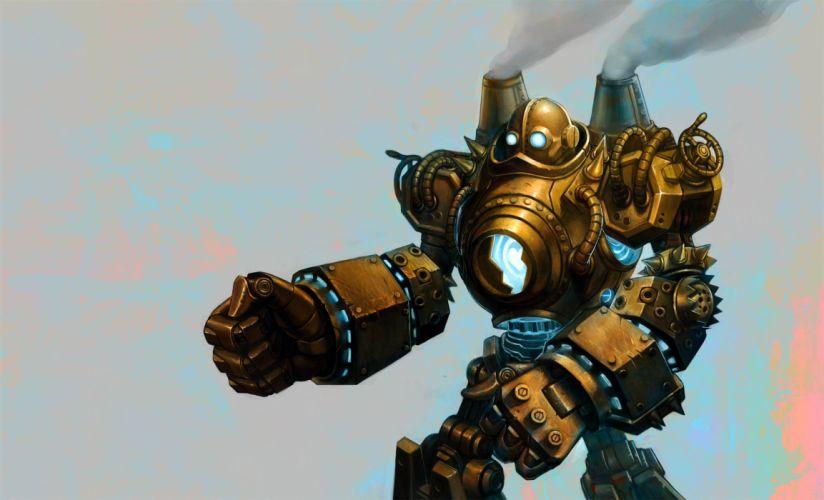 League of Legends Blitzcrank Robot sci-fi steampunk wallpaper