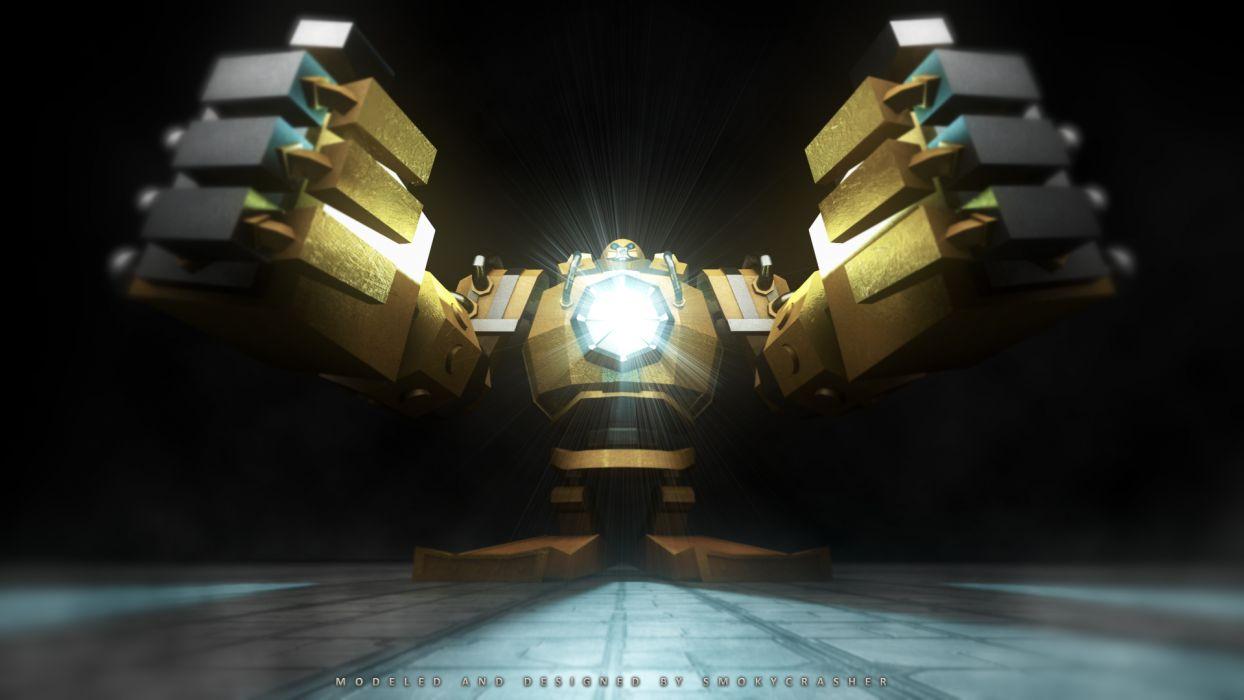 League of Legends Blitzcrank Robot sci-fi wallpaper