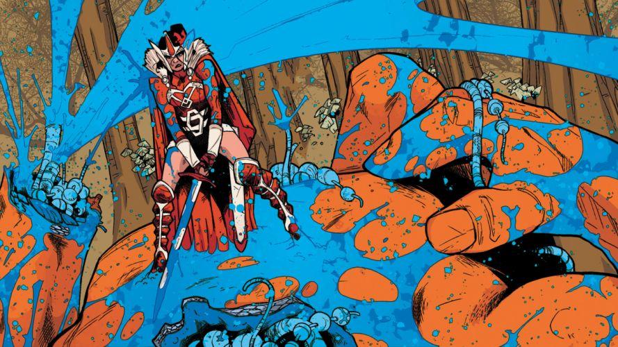 Marvel comics warrior weapons swords fantasy women females girls superhero wallpaper
