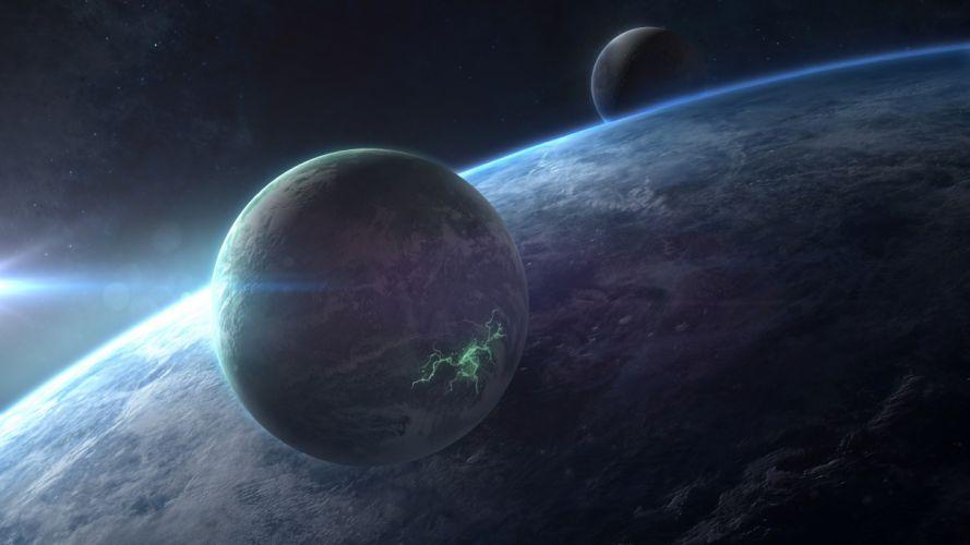 Planets Starlight Stars wallpaper