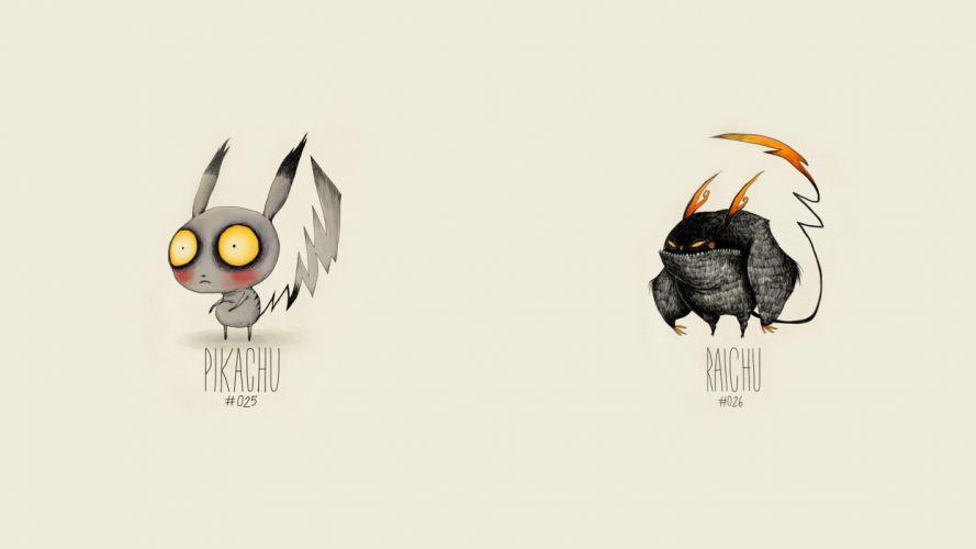 Pokemon Pikachu Raichu Drawing wallpaper