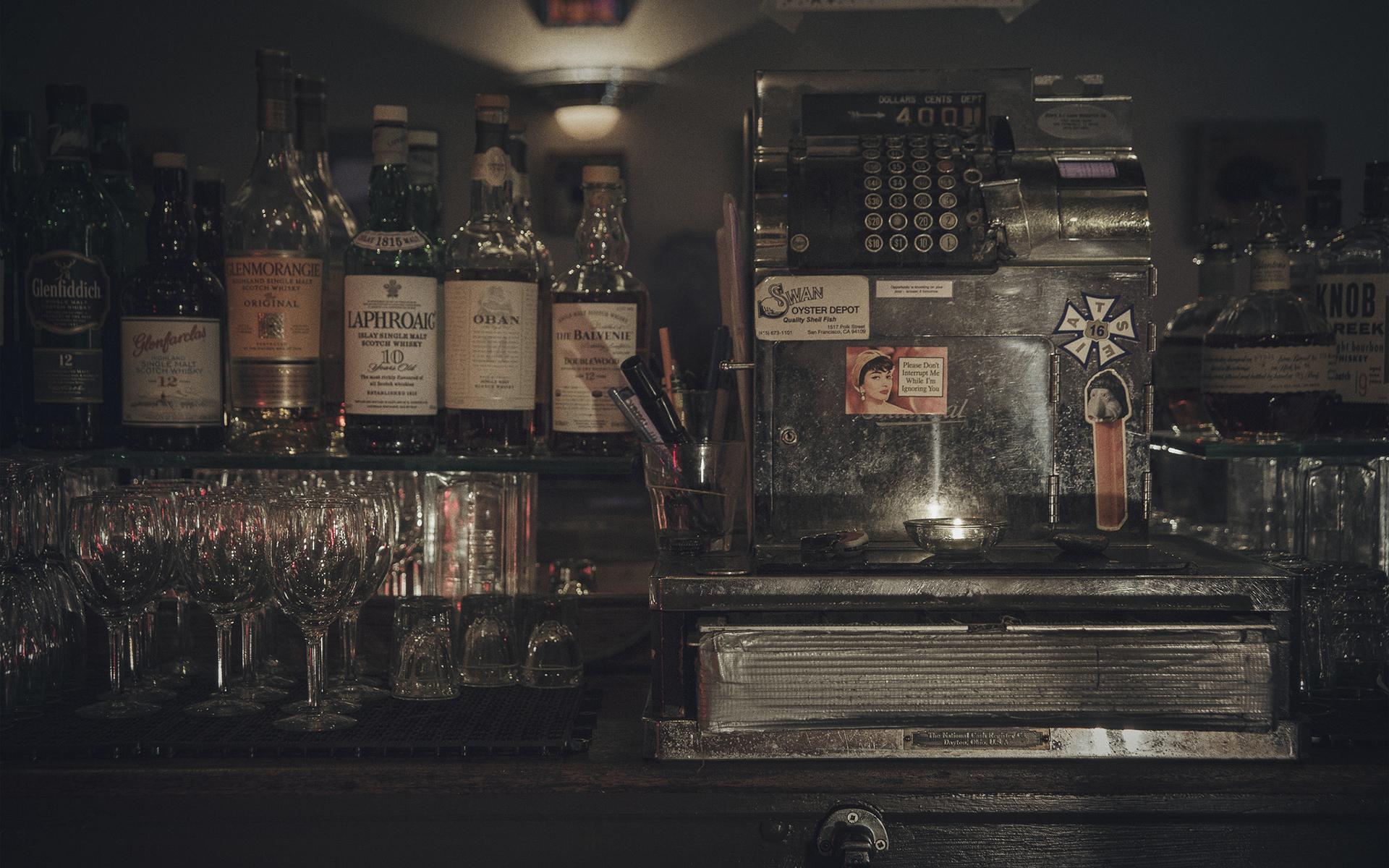 register bottles alcohol bar wallpaper 1920x1200 53122