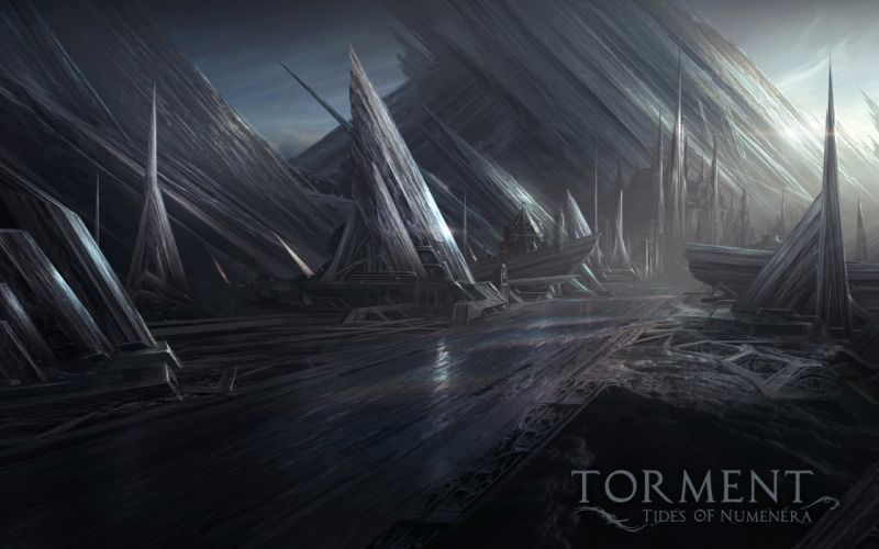 Torment Tides of Numenera Drawing fantasy cities wallpaper