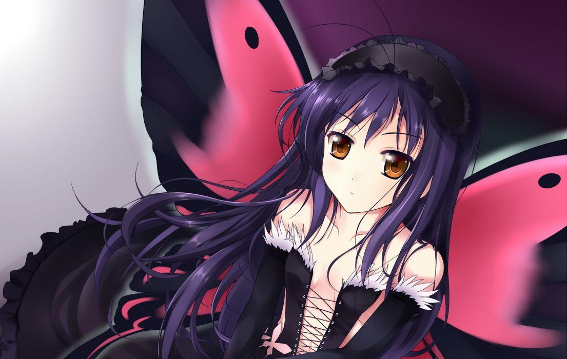 accel world close kuro yuki hime wings wallpaper