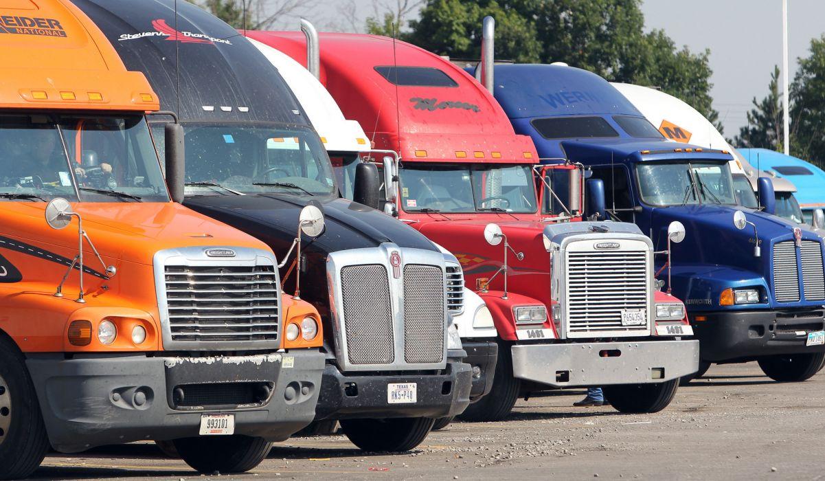 custom semi rigs tractor trucks wallpaper