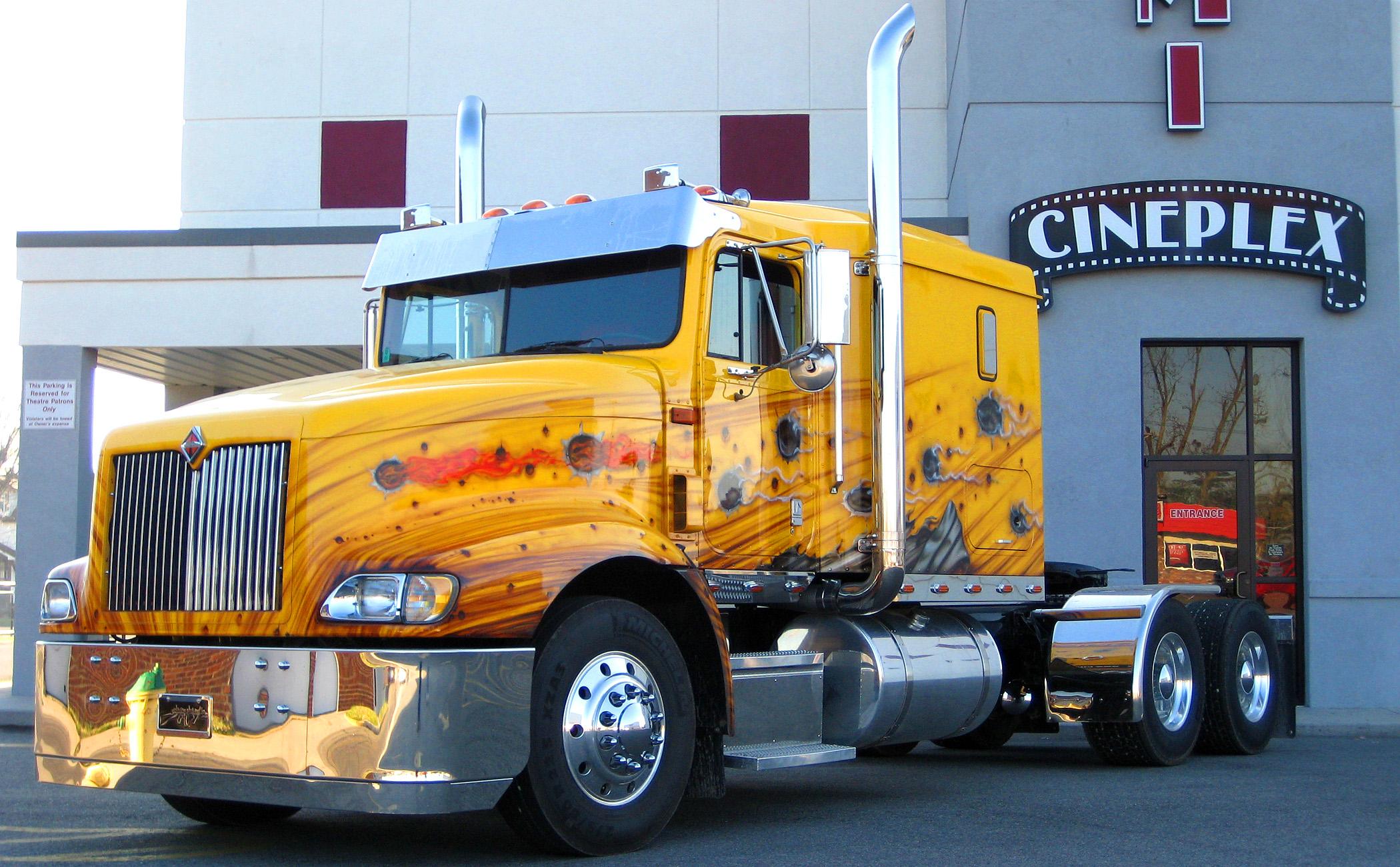 custom semi rigs tractor trucks wallpaper 2100x1301