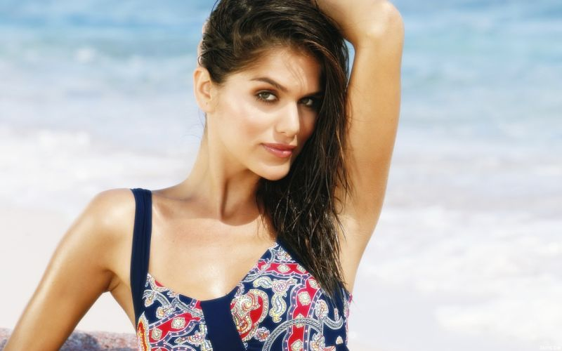 Anahi Gonzales models brunettes women females girls sexy babes swimwear swimsuit face eyes e wallpaper