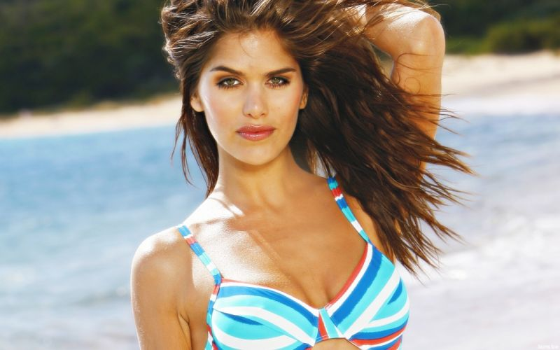 Anahi Gonzales models brunettes women females girls sexy babes bikini swimwear swimsuit wallpaper