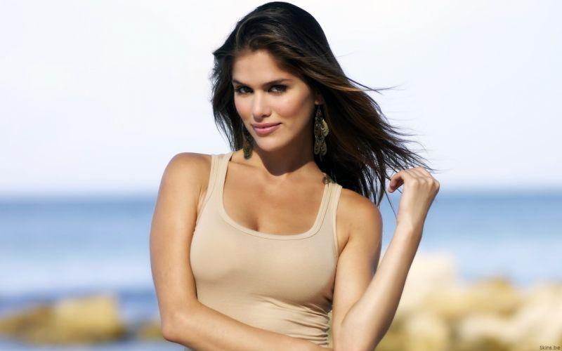 Anahi Gonzales models brunettes women females girls sexy babes face eyes e wallpaper