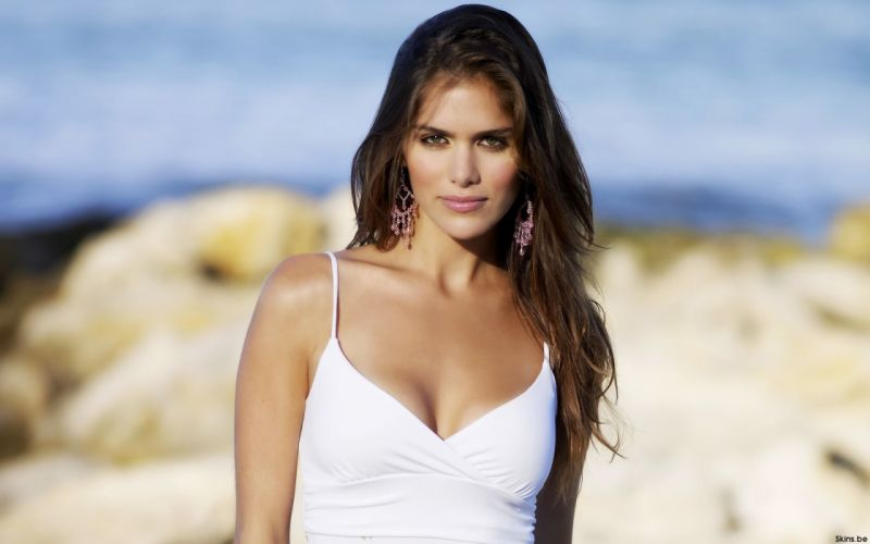 Anahi Gonzales models brunettes women females girls sexy babes face eyes r wallpaper